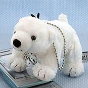白クマのミルク ぬいぐるみ マスコット 座高13cm