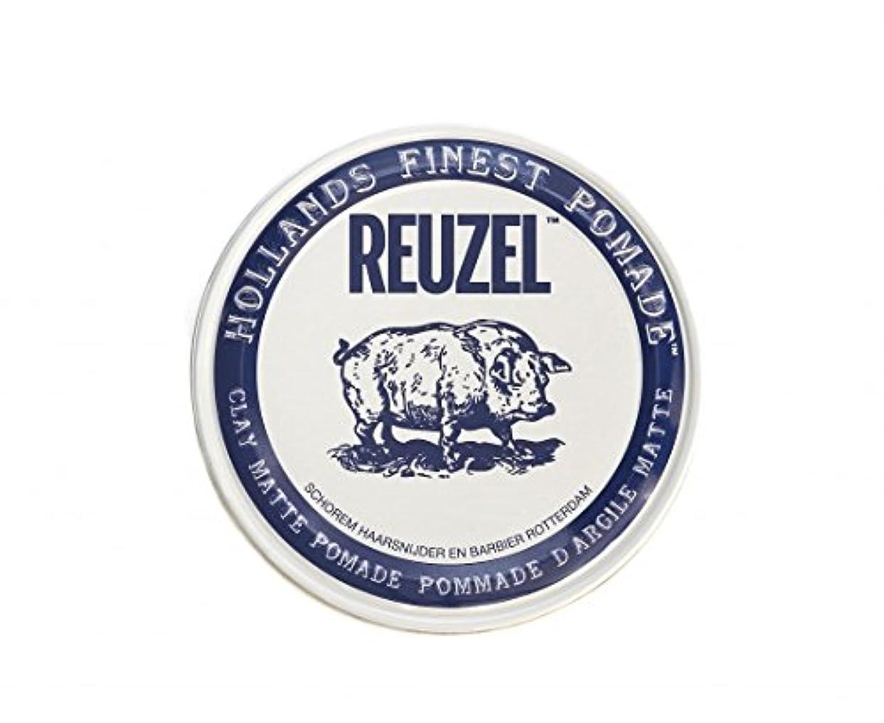 絶滅した食べる拷問ルーゾー REUZEL CLAY MATTE クレイマット ポマード ホワイト 35g
