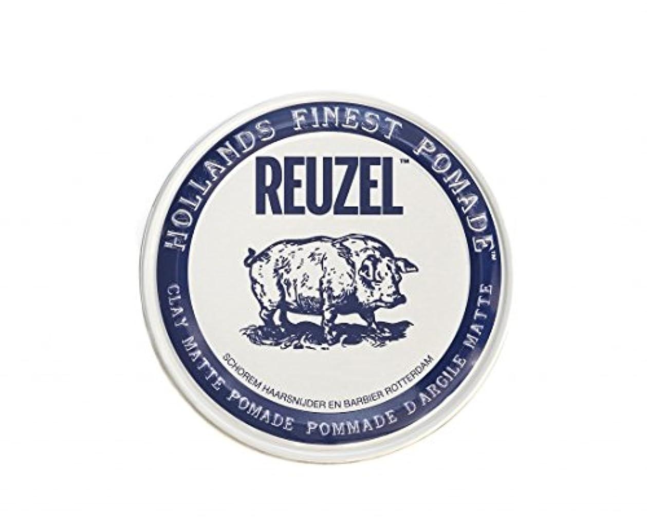 エミュレーションバルセロナ動員するルーゾー REUZEL CLAY MATTE クレイマット ポマード ホワイト 35g