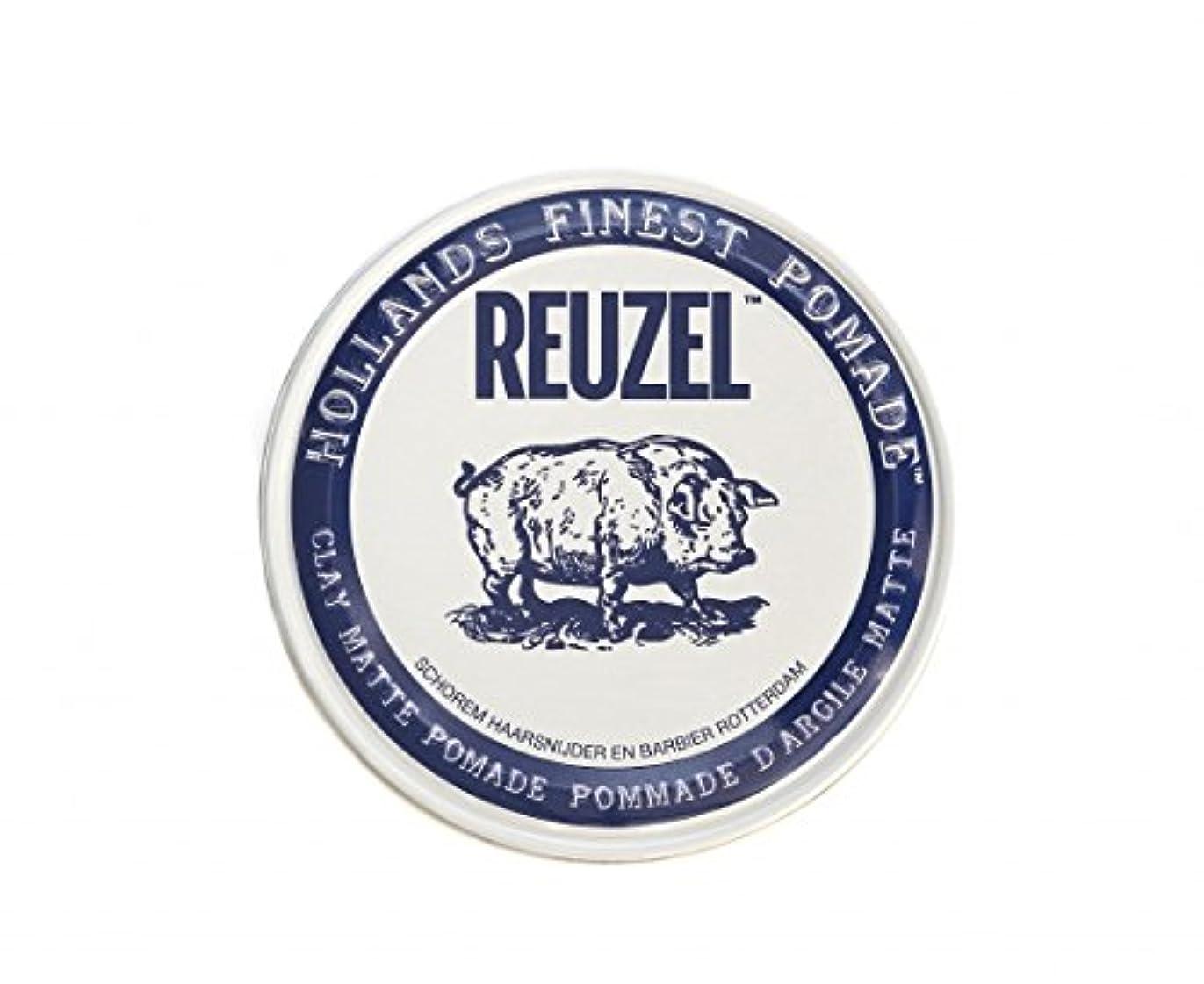 宇宙簡単に通り抜けるルーゾー REUZEL CLAY MATTE クレイマット ポマード ホワイト 35g
