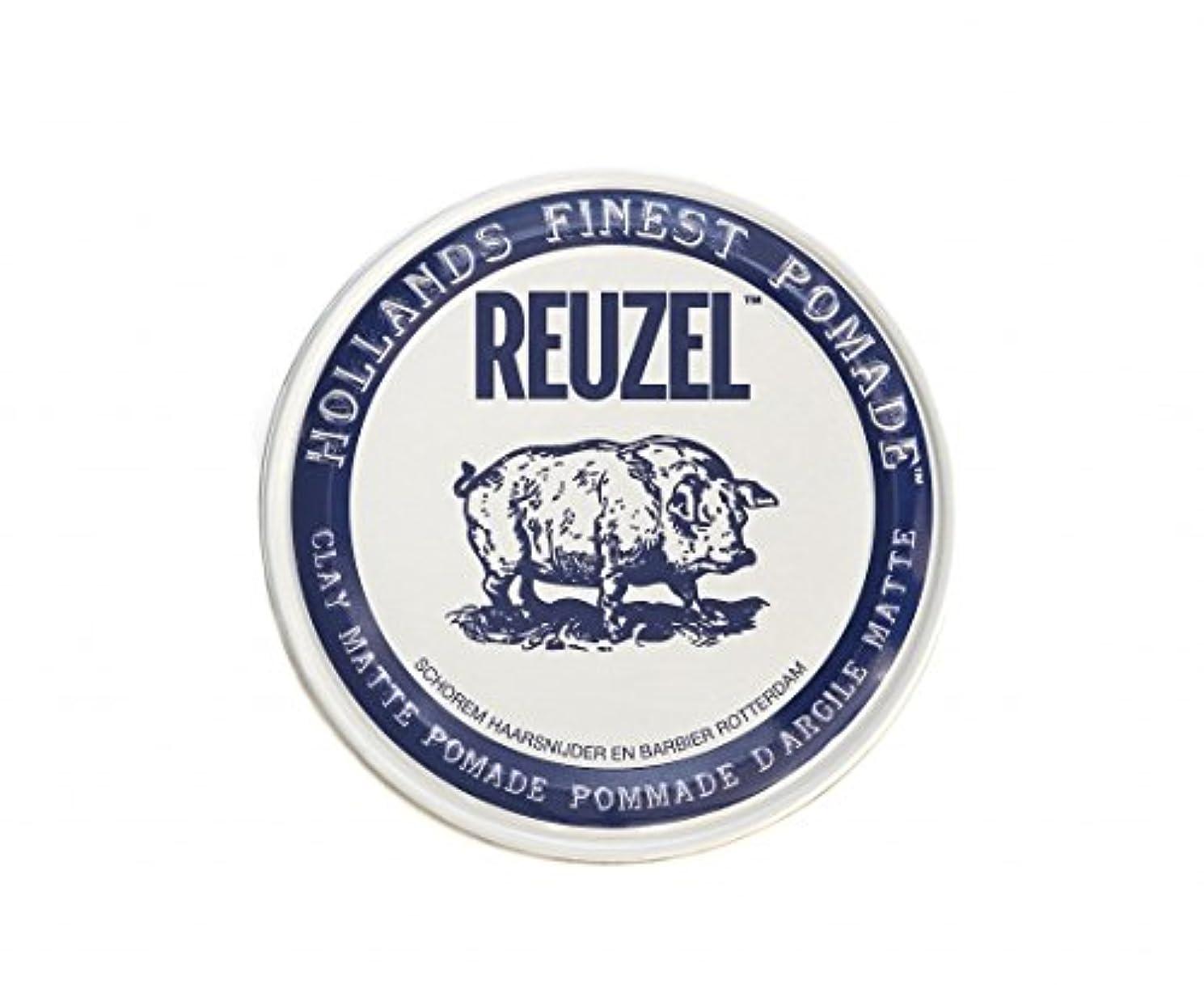 古くなった冷蔵する恥ずかしさルーゾー REUZEL CLAY MATTE クレイマット ポマード ホワイト 35g