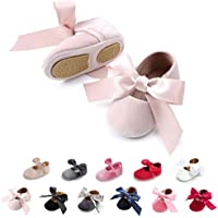 Tutoo Baby Girls' Party Shoes Newborn Soft Sole Walkers Shoes Infant Crib Shoes