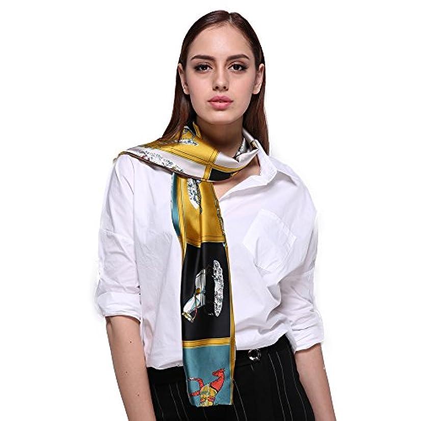 隙間防止ボックスClassic Long Soft Scarf Silk Carriage Print For Ladies Summer Lightweight Scarves FS587