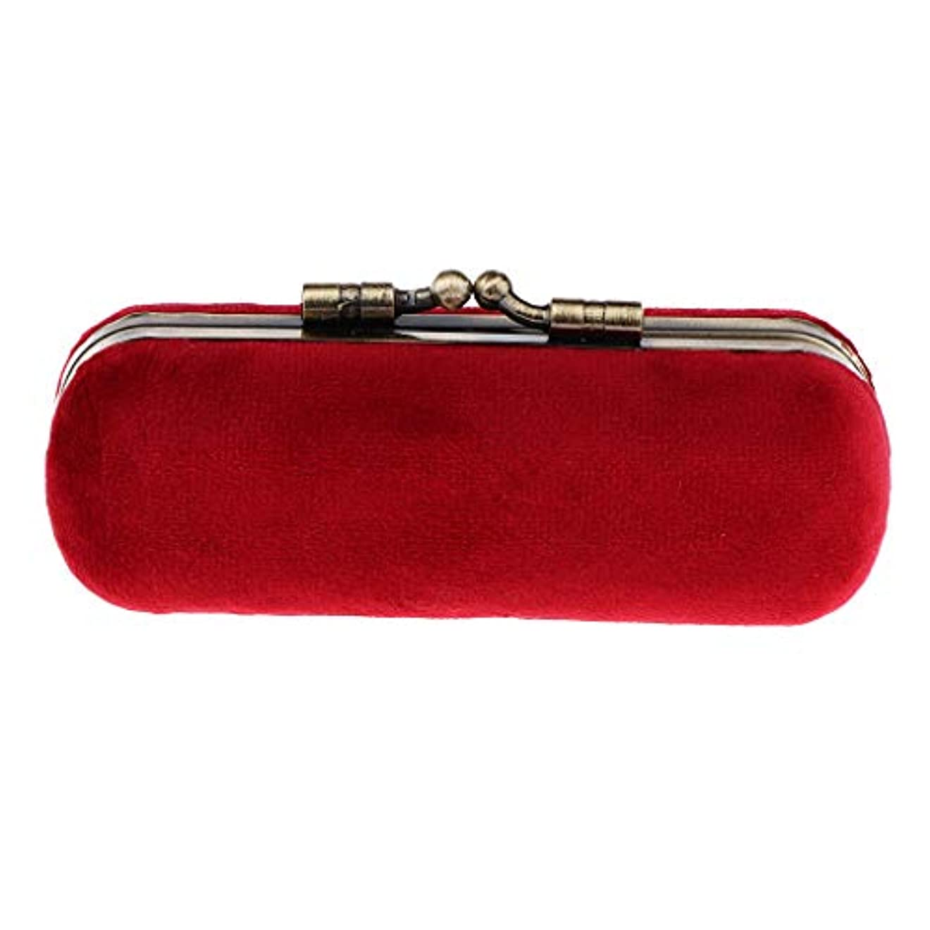 アセンブリ収束スキームP Prettyia 8色 口紅ホルダー 化粧ケース 収納ボックス ミラー 財布ポケット 化粧ポーチ - 赤紫