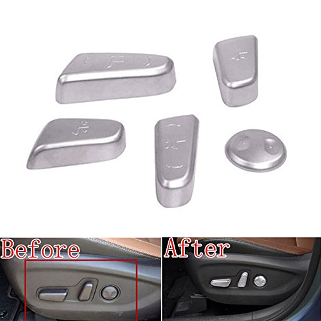 長々と唇郵便番号Jicorzo - 5x ABS Chrome Car Door Seat Adjustment Switch Control Knob Button sticker Fit For Hyundai Tucson Car...