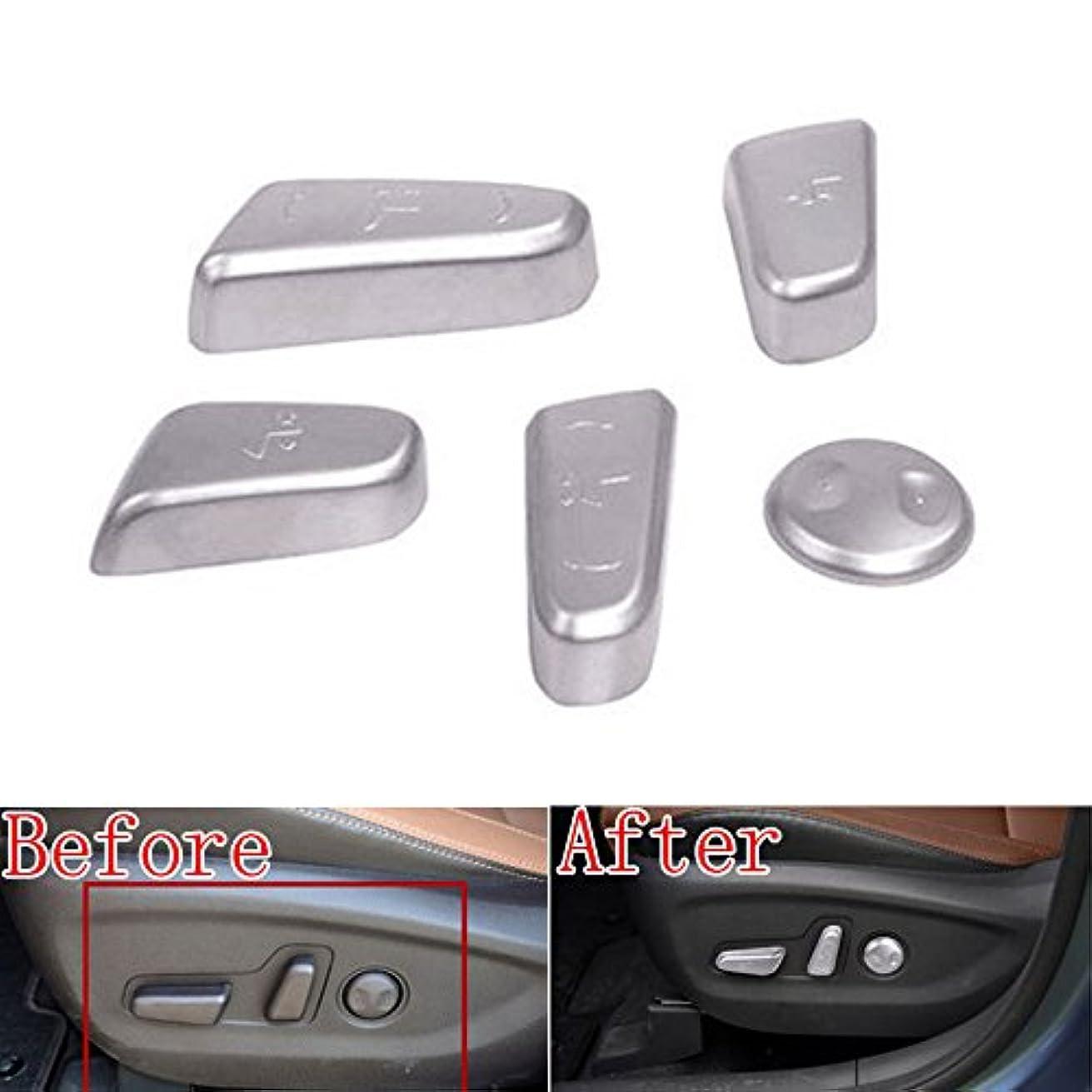 の前で私たち地下鉄Jicorzo - 5x ABS Chrome Car Door Seat Adjustment Switch Control Knob Button sticker Fit For Hyundai Tucson Car...
