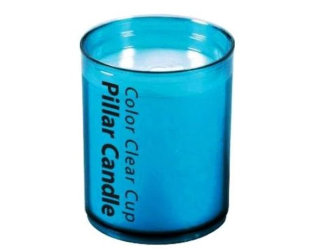 盆反論者儀式カメヤマ カラークリアカップピラー3インチ ブルー