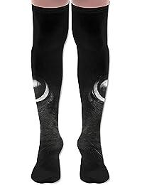 ソフト 65CM 靴下 オーバーニー ハイソックス ロングニーハイ 口ゴムゆったり ビジネスソックス 猫 ネコ キティ 3Dプリント 防寒 フットサポート付き 実用的 美脚 脚長効果抜群 丈夫