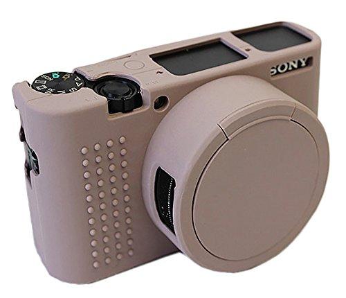 ソニーサイバーショット Sony DSC-RX100 V / RX100M5カメラグレーのための取り外し可能なレンズカバー保護シリコーンゲルゴムに柔らかいカメラケースカバーバッグ