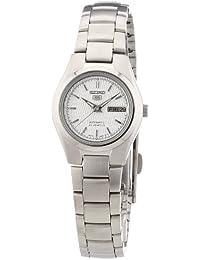 【日本製逆輸入海外モデル】SEIKO セイコー ファイヴ SEIKO 5 自動巻き&手巻き式レディース腕時計 ダイヤカットシルバーダイアル メタルベルト SYMC07K1 [逆輸入品]