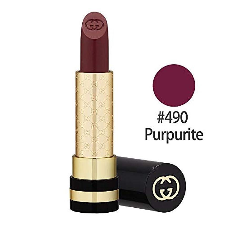 クラス頑丈デッドグッチ(GUCCI) ラグジュアリス モイスチャーリッチ リップスティック #490(Purpurite) 3.5g [並行輸入品]
