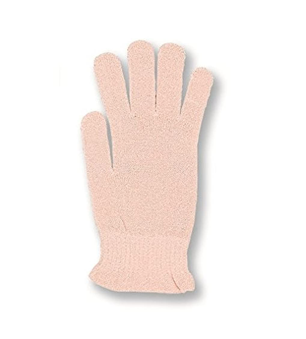 対象ファンタジー直立コクーンフィット シルク おやすみ手袋 ピーチ