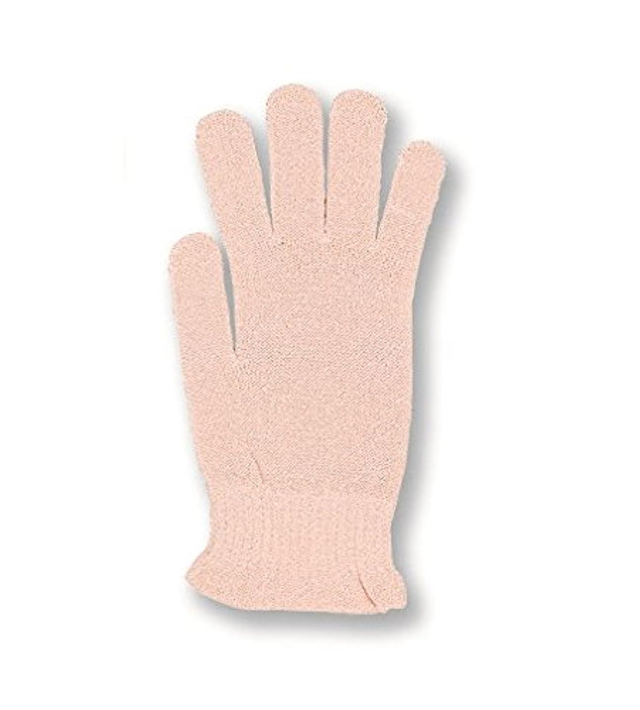 はっきりと受け継ぐログコクーンフィット シルク おやすみ手袋 ピーチ