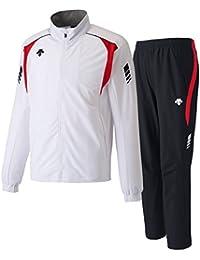 デサント(DESCENTE) トレーニングジャケット&パンツ 上下セット(ホワイト/ブラック) DRN-1710-WHT-DRN-1710P-BLK
