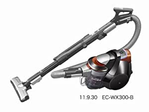 SHARP プラズマクラスター搭載新世代サイクロン掃除機 ブラック系 EC-WX300-B