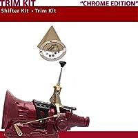 American Shifter 392026 Shifter Kit (AOD 6 Trim Kit CHR Push Btn TN Boot Ringed Knob For D400B) [並行輸入品]