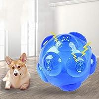 [実りの秋]犬おもちゃ 噛む ボール?音の出る 小/中/大型犬に適用 トレーニング 知育玩具 歯磨き 清潔 運動不足 ストレス解消 耐久性 安全無毒 ブルー