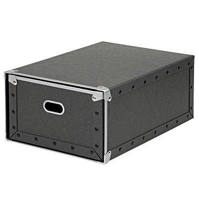 無印良品 硬質パルプボックス・引出式・深型 約幅25.5×奥行36×高さ16cm