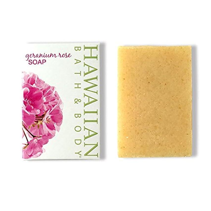 シェルター素晴らしき開始ハワイアンバス&ボディ ゼラニウムローズソープ ( Geranium Rose Soap )