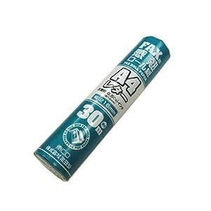 ミヨシ MCO FAX用感熱ロール紙 A4レターサイズ 芯内径0.5インチ(約12.7mm) 30m巻 1本入り FXR30LH-1
