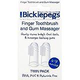 [Bickiepegs] パックあたりBickiepegs指歯ブラシ&ガムマッサージ2 - Bickiepegs Finger Toothbrush & Gum Massager 2 per pack [並行輸入品]