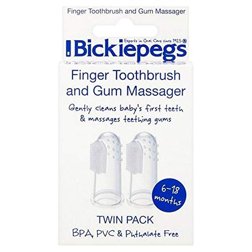 従者困惑するフィドル[Bickiepegs] パックあたりBickiepegs指歯ブラシ&ガムマッサージ2 - Bickiepegs Finger Toothbrush & Gum Massager 2 per pack [並行輸入品]