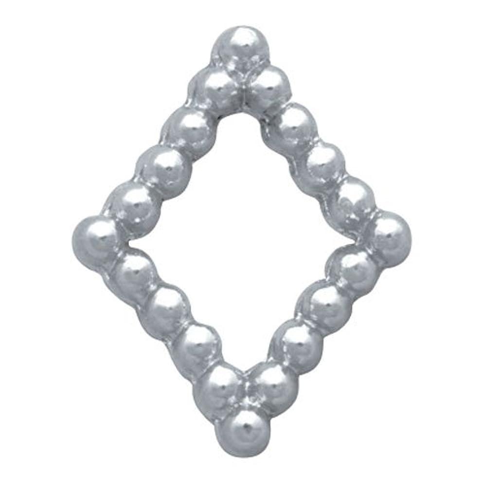 結晶進行中人気のプリティーネイル ネイルアートパーツ ブリオンキラキラL シルバー 10個