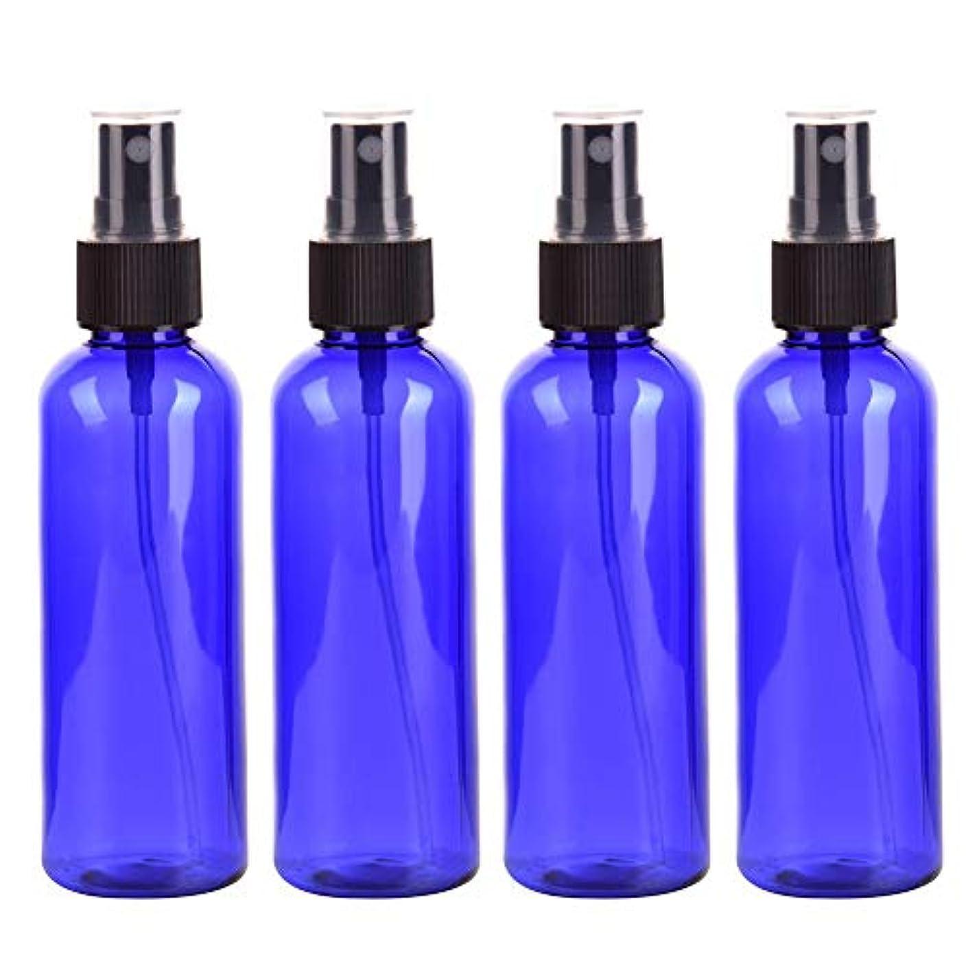 ほのか薬化学者4本セット スプレーボトル 3色おしゃれ PETボトル 100ml (A)
