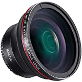 Neewer 58MM 0.43X HD Wide Angle Lens with Macro Close-Up Portion Lens No Distortion for Canon EOS Rebel 700D 650D 600D 550D 500D 450D 400D 350D 100D (T5i T4i T3i T2i T1i XSi XTi XT SL1) DSLR Cameras