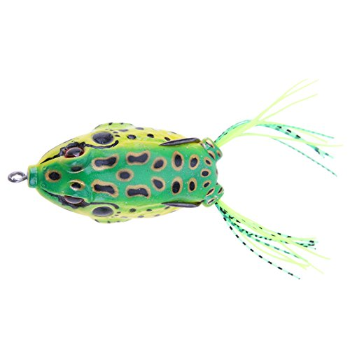 SIKIWIND 偽餌 ルアー カエル型 ハードエサ 5cm 11g 全4色 (D)
