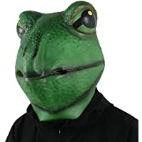 FantasyParty リアルマスク 蛙マスク カエルマスク 蛙被り物 新年会 忘年会 仮装マスク お祭り 宴会 学園祭 文化祭 ラテックスマスク コスチュームマスク
