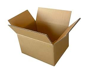 ボックスバンク ダンボール(段ボール箱)60サイズ(24×19×14cm)10枚セット 引越し・配送用 FD08-0010-a