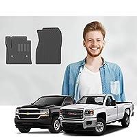Road Comforts Custom Fit Chevrolet Silverado 2014-2019 GMC Sierra/Sierra Denali 2014-2018 1500/2500/3500 - Regular Cab Front Row Only (2pcs) (Black) [並行輸入品]