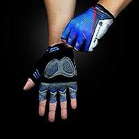 BMY マウンテンバイク用手袋男性フィットネスハーフフィンガー発光弾性用プルアップバートレーニングエクササイズサイクリング