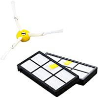 iRobot Roomba 自動掃除機ルンバ900/800シリーズ用エッジクリーニングブラシ1個・フィルター2枚セット 870ブラシフィルターセット