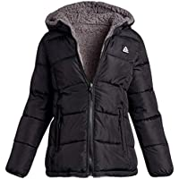 Reebok Women's Quilted Puffer Jacket - Fully Reversible to Sherpa