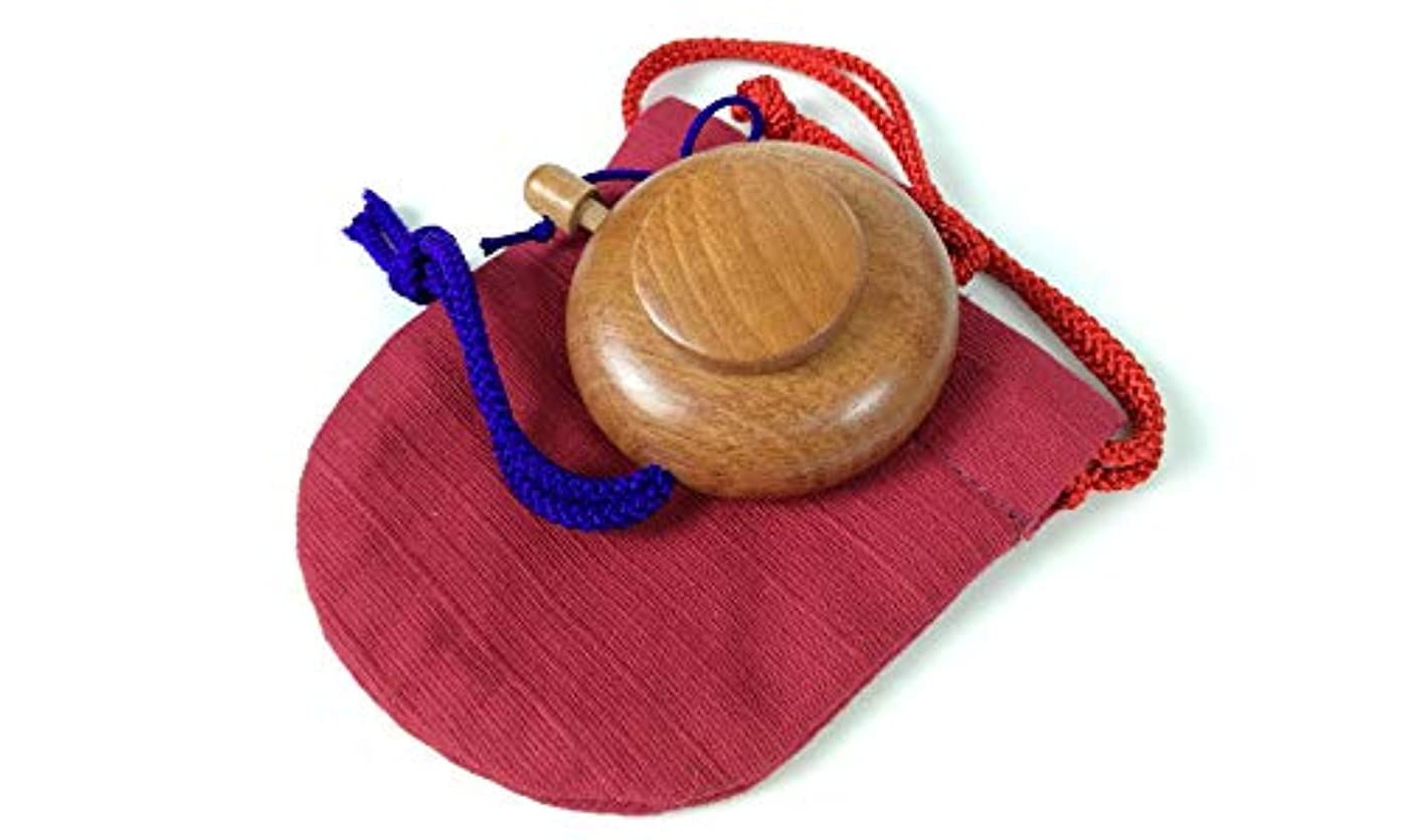 冗談で意識的く塗香入れ 桜 黒檀 紫檀 サイズ選択 小 大 塗香入れ袋付き 携帯用 (小, 桜赤)