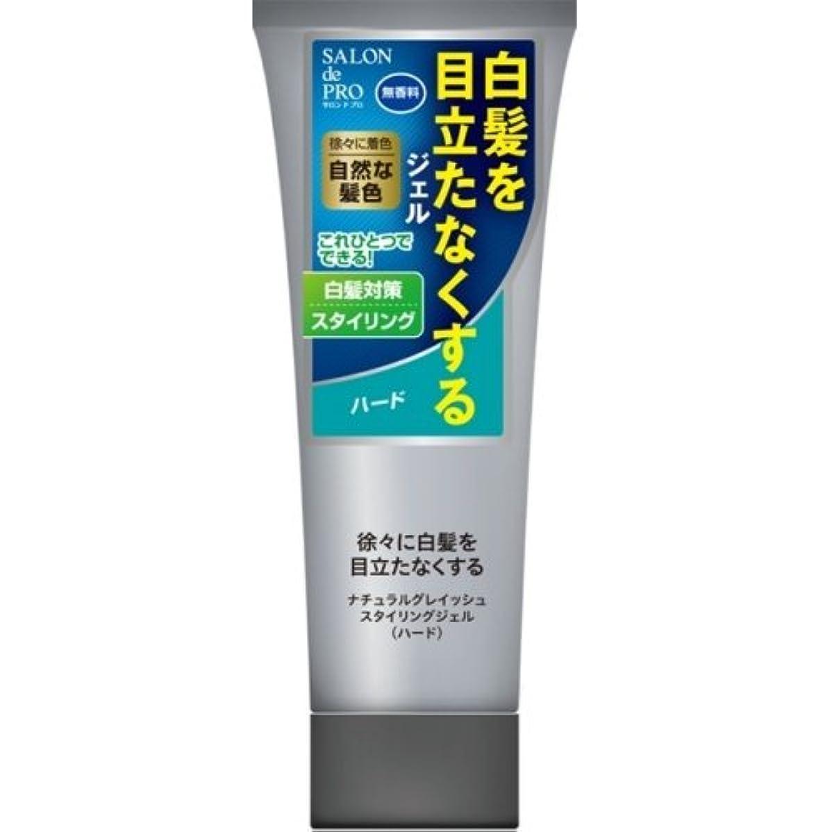 欲望概念人事サロンドプロ ナチュラルグレイッシュ スタイリングジェル ハード 160g (白髪用)