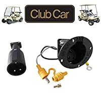 No. 1 accessories 48V Charger Cord Plug & Charger Receptacle for Club Car DS Precedent Golf Carts 1995 Up #101828901#101802101#103375501 (DS Charger Handle Plug and Receptacle) 141[並行輸入]