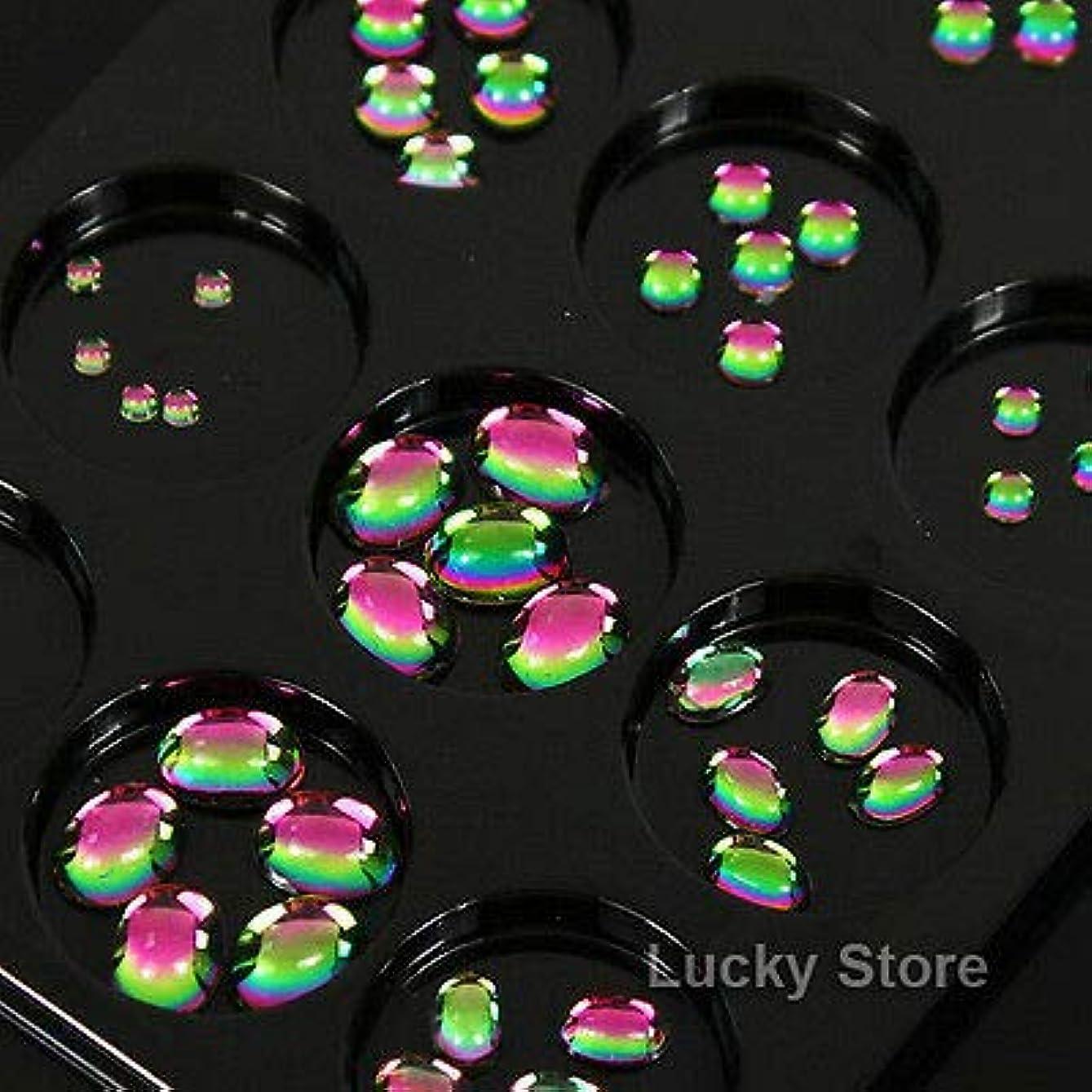 素敵な本気だますFidgetGear 60PCSレインボーカラー3Dネイルアートデコレーションラインストーン携帯電話アクセサリー
