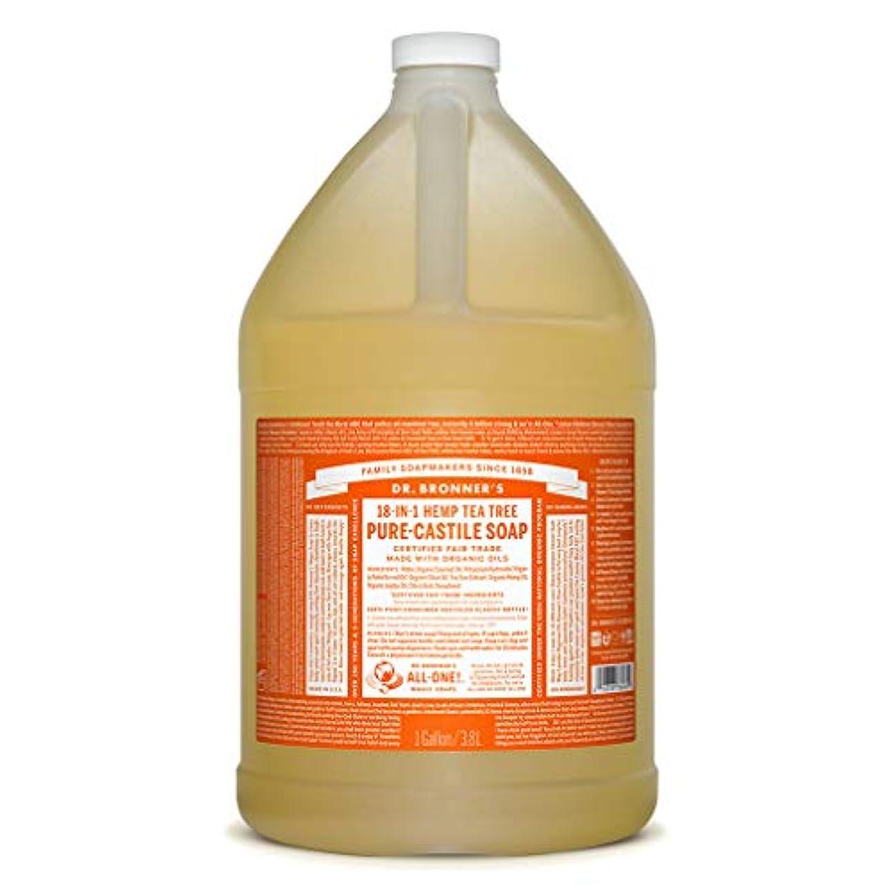 傷つける改善する安全でないドクターブロナー マジックソープ液体 ティーツリー 3776ml