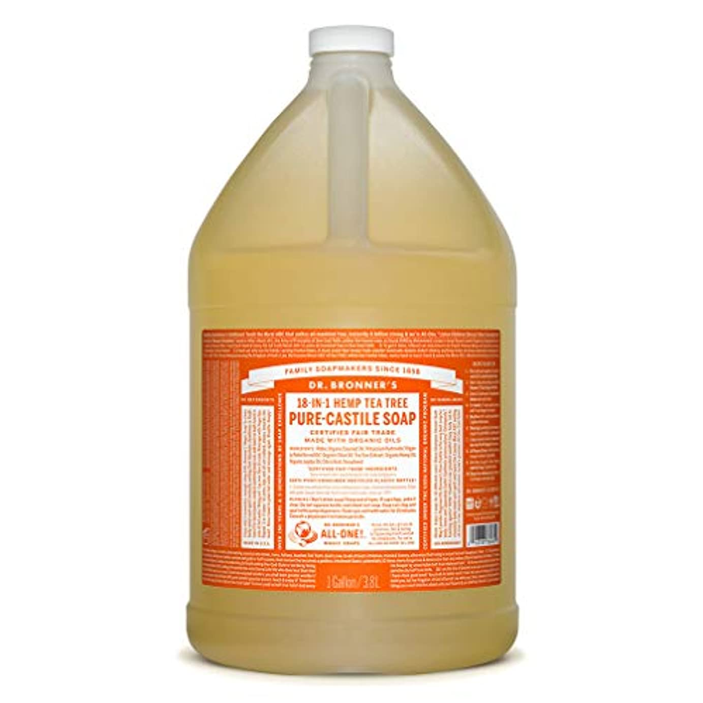 時間厳守一回カフェドクターブロナー マジックソープ液体 ティーツリー 3776ml