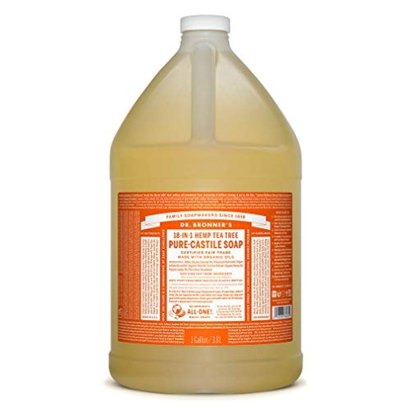 キャンディー再集計正当なドクターブロナー マジックソープ液体 ティーツリー 3776ml