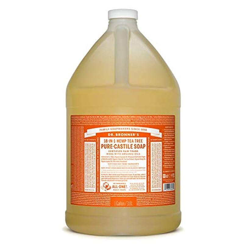 地区心から落ち込んでいるドクターブロナー マジックソープ液体 ティーツリー 3776ml
