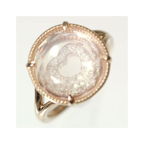 [キュートジュエリー]Cute jewerly ダイヤモンド 指輪 K18PG ダイヤ0.06ct ローズクォーツ レイヤードリング 9