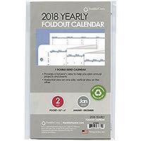 2018年版 ポケットサイズ 年間カレンダー(英語版) システム手帳リフィル A7681