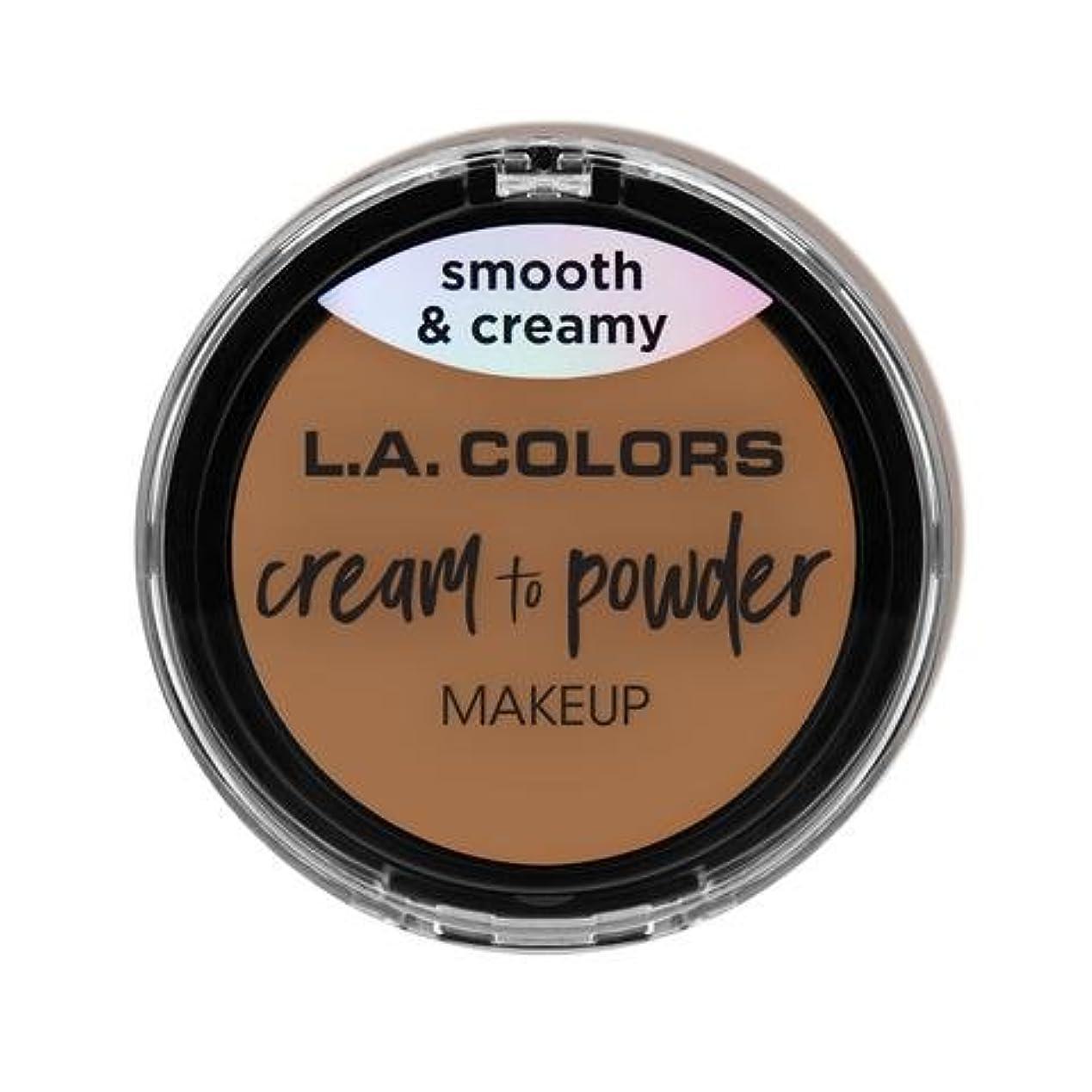 次騒ぎカタログ(3 Pack) L.A. COLORS Cream To Powder Foundation - Soft Honey (並行輸入品)