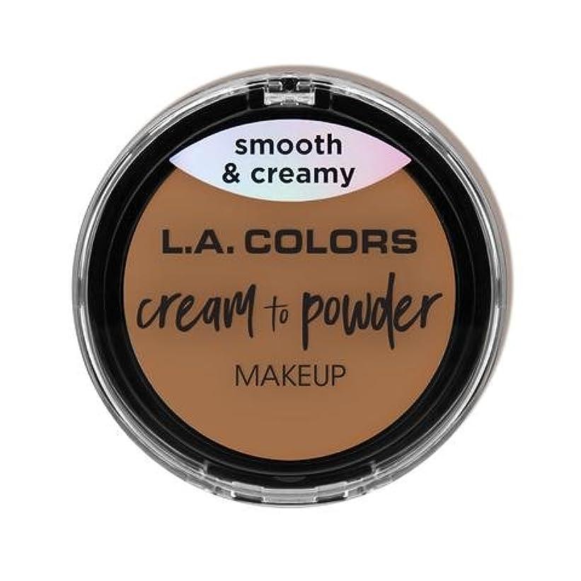 ステーキ値する酸素(3 Pack) L.A. COLORS Cream To Powder Foundation - Soft Honey (並行輸入品)