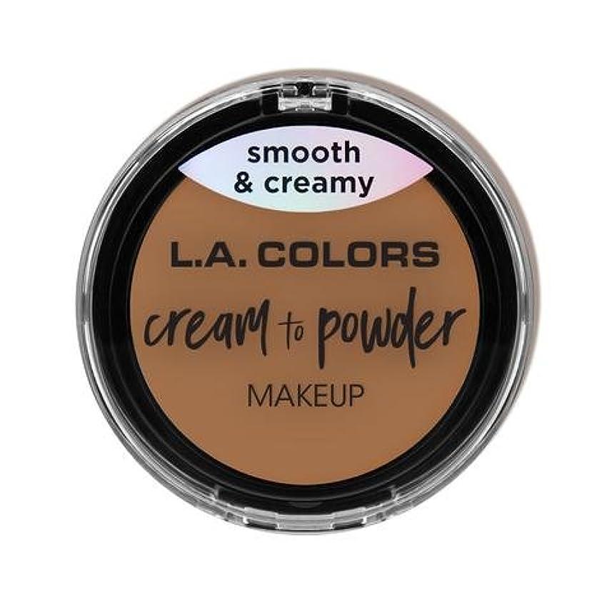 (3 Pack) L.A. COLORS Cream To Powder Foundation - Soft Honey (並行輸入品)