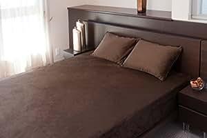 ホームソフト ベッドカバー ブラウン ダブル